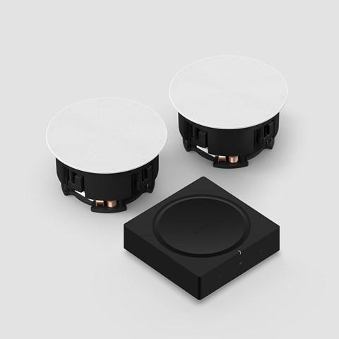Amp + In-Ceiling Høyttalersystem Høyttalersystem