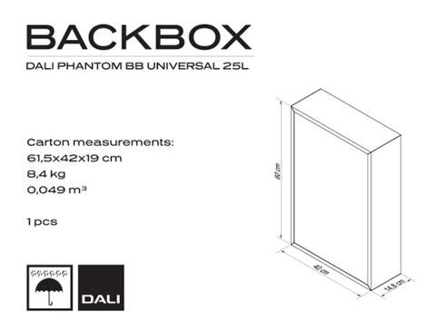 DALI PHANTOM UNIVERSAL 25L Backbox