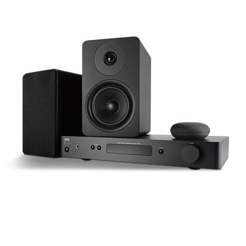 NAD NAD C338 + ARGON ALTO 5 MK2 + GOOGLE NEST MINI Digital förstärkare med streaming Digital förstärkare med streaming